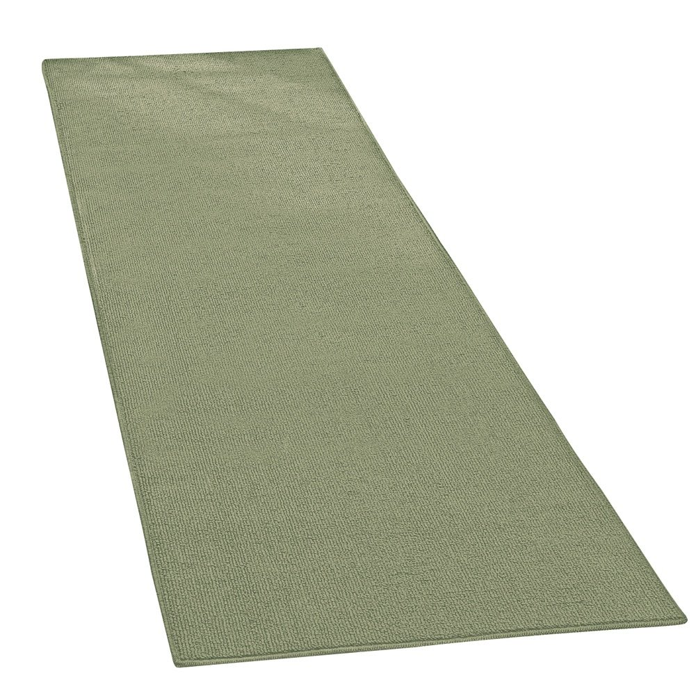 Collections Etc Extra Wide Extra Long Skid-Resistant Floor Runner Rug, for Hallways, Kitchens and Entryways, Sage, 28''X90''
