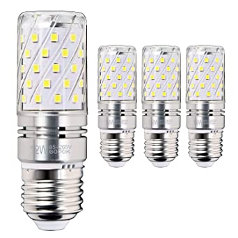 Hzsane E27 LED maíz bombilla, 12W, 6000K blanco frío LED bombillas, 100W incandescente