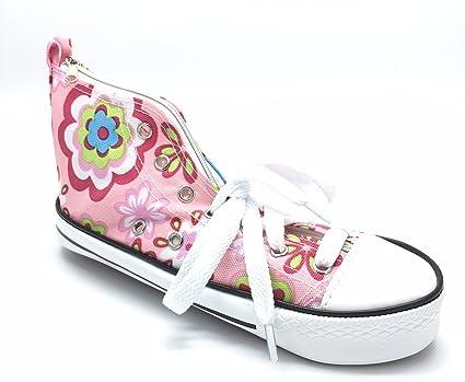 Estuche En Un diseño de flores de color rosa zapatillas Converse diseño de zapatillas: Amazon.es: Oficina y papelería