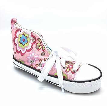 Estuche En Un diseño de flores de color rosa zapatillas ...