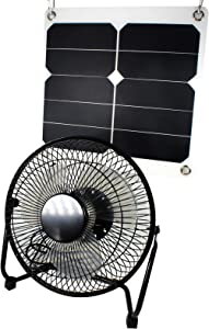 GOODSOZ 10W Solar Panel Fan Outdoor for Home Chicken House RV Car Gazebo Ventilation System
