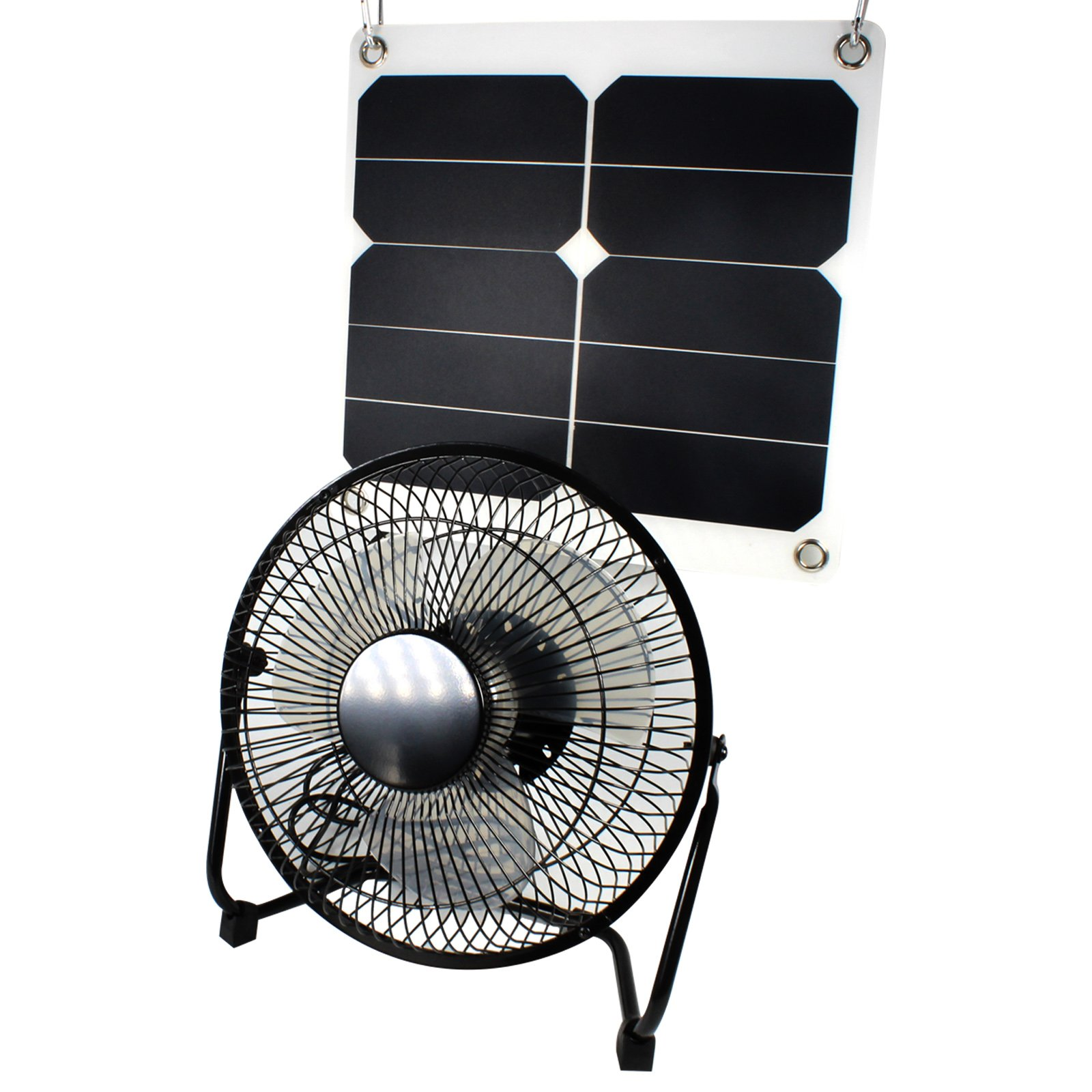 GOODSOZ 10W Solar Panel Fan Outdoor for Home Chicken House RV Car Gazebo Ventilation System by GOODSOZ