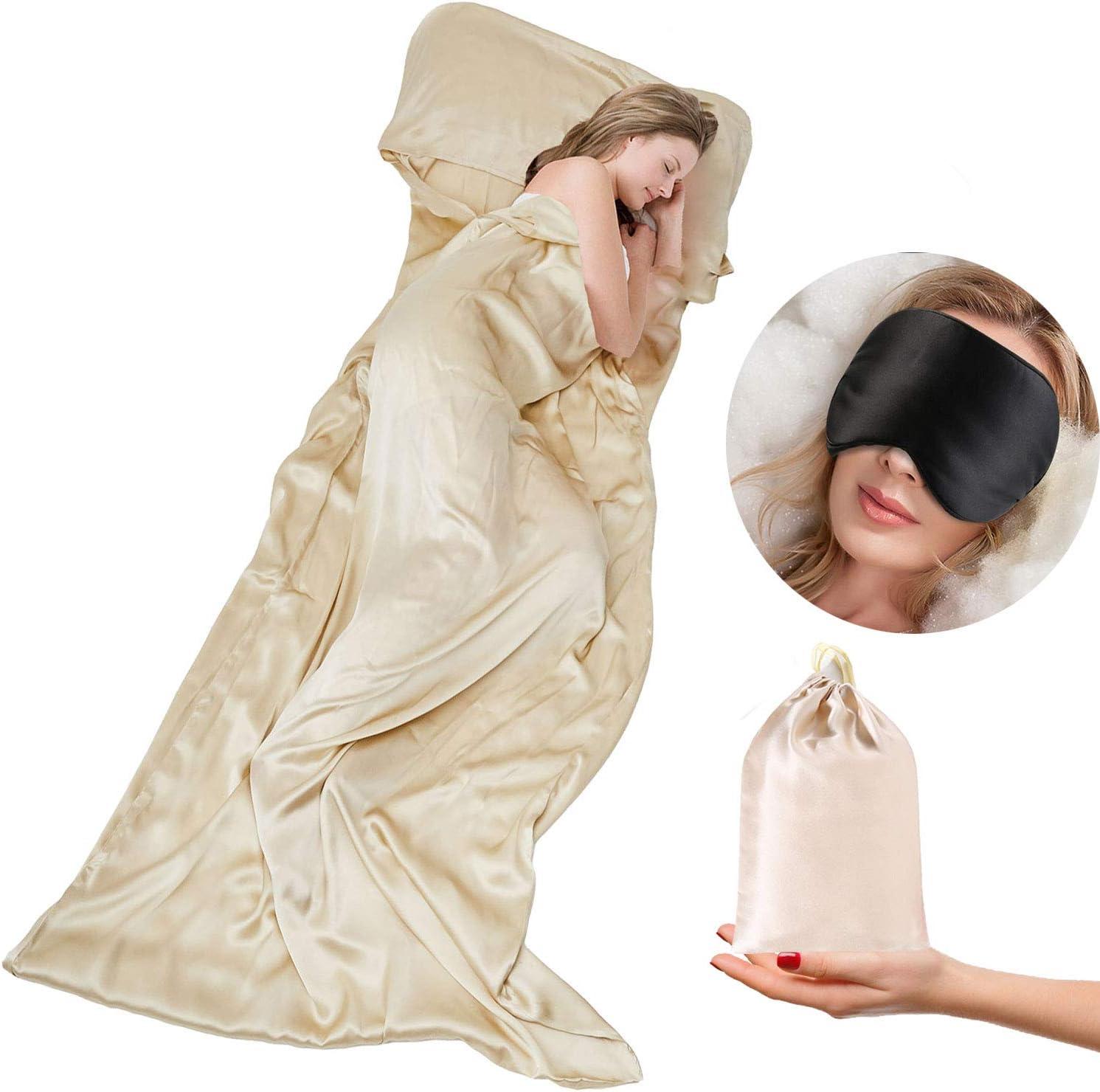 TREKSILK Natural White 100/% organisms Pure Silk Silk Sleeping Bag Summer Sleeping Bag