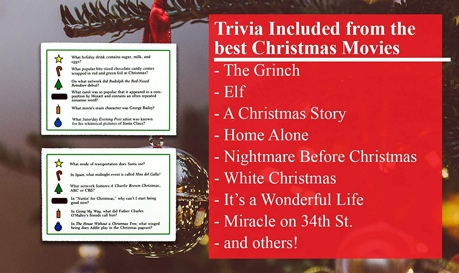 amazoncom tis the season christmas trivia game the classic and original featuring christmas trivia cards questions that make for great holiday games