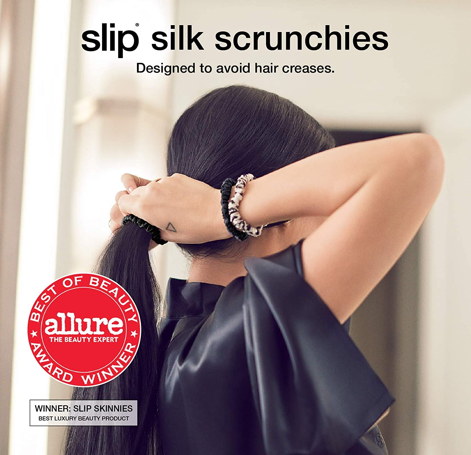 Slip™ Slipsilk™ Skinny Scrunchie *Your Choice of Color* 100/% Silk NEW  AUTHENTIC