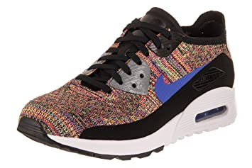 reputable site 24688 98f8f NIKE Chaussures Femme Air Max 90 Flyknit Ultra 2.0, blackmedium blue-cool