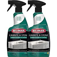 Weiman Granite Cleaner and Polish - 24 Ounce (2 Pack) Safely Cleans and Shines Granite Marble Soapstone Quartz Quartzite…