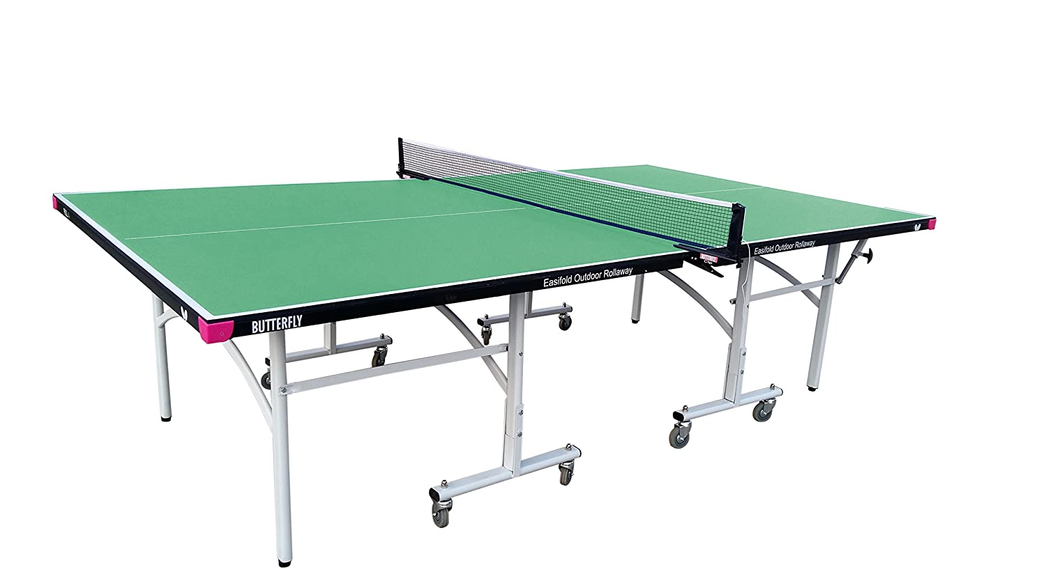 Amazon.com : Butterfly Easifold Outdoor Rollaway Table Tennis Table, Blue :  Sports U0026 Outdoors