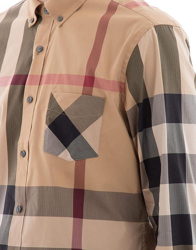 BURBERRY - Camisa casual - para hombre multicolor L: Amazon ...
