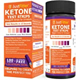 Just Fitter Ketone Test Strips. Lose Weight, Look and Feel Fabulous on a Low Carb Ketogenic Diet. Get Your Body Back! Accurately Measure Your Fat Burning Ketosis Levels in 15 Seconds. 125 Strips.
