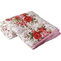 Handcraftd Microfibre Reversible Double Bed Comforter Reversible AC Blanket/Dohar/Quilt for Home Double Bed