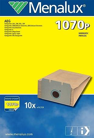 Menalux 1070 P - Bolsas de papel para aspiradoras AEG ...