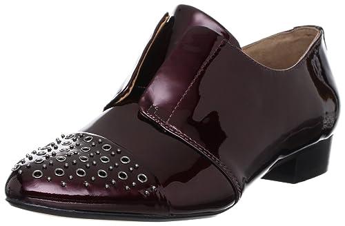 Clarks - Mocasines de charol para mujer rojo rojo, Rojo - Rouge (Wine Patent), 42.5: Amazon.es: Zapatos y complementos