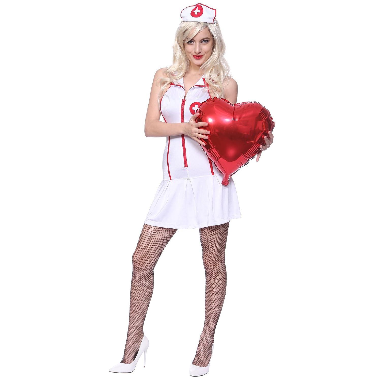 Amazon.com: Fashoutlet disfraz de enfermera sexy para mujer ...