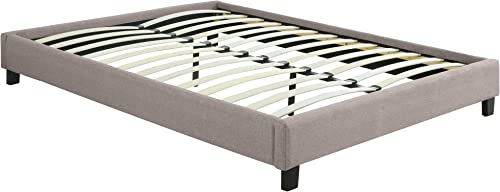 US Pride Furniture Wood Upholsterd Full/Queen Size Bed Frame