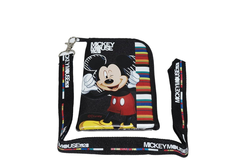 Disney Mickey Mouse - Cordón negro con funda para teléfono ...