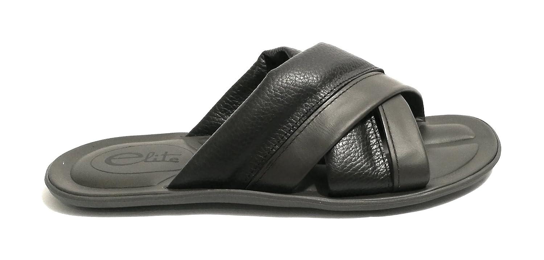 Elite Chaussures spécial Piscine et Plage pour Homme Marron foncé