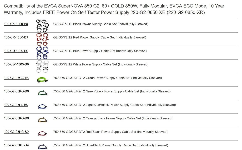 EVGA Supernova 850 G2 Unidad de - Fuente de alimentación (850 W ...