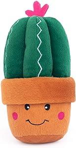 ZippyPaws - Stuffed Plush Dog Toy with Squeaker - Carmen The Cactus