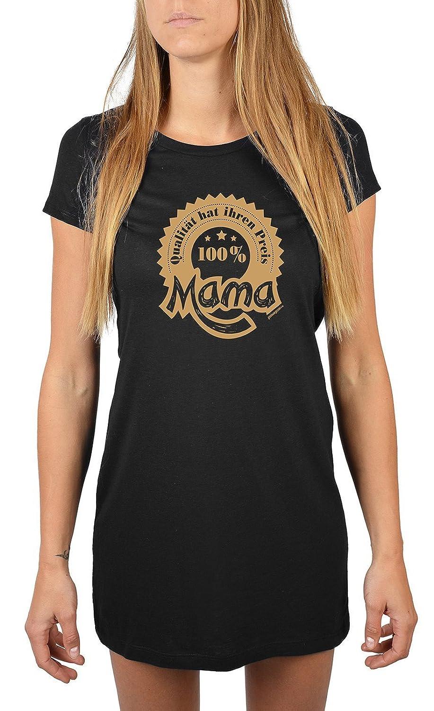 für Mama Nachthemd 100% Mama - Qualität hat ihren Preis Sommerkleid Nachtkleid Geschenk für Mama