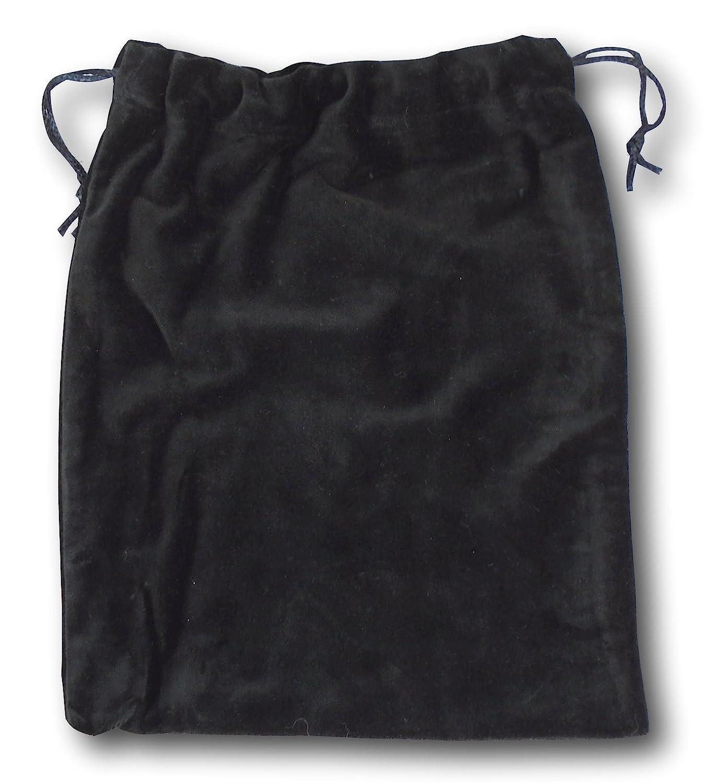 Velvet Cremains Bag, for Inside The Urn Ashes Large (Black)