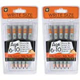Channie's Repacked 2 pack write size Pencils for 6-10 years old