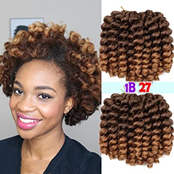 Amazoncom Jumpy Wand Curl Hair Extensions Curls Jamaican Bounce