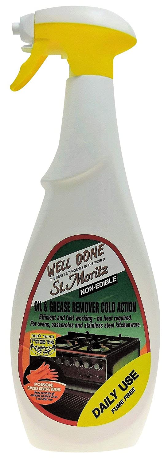 Well Done St. Moritz Oil & Grease Remover Cold Action - Daily Use, Fume Free - 27 Oz (750 ml) each - Pack of 2