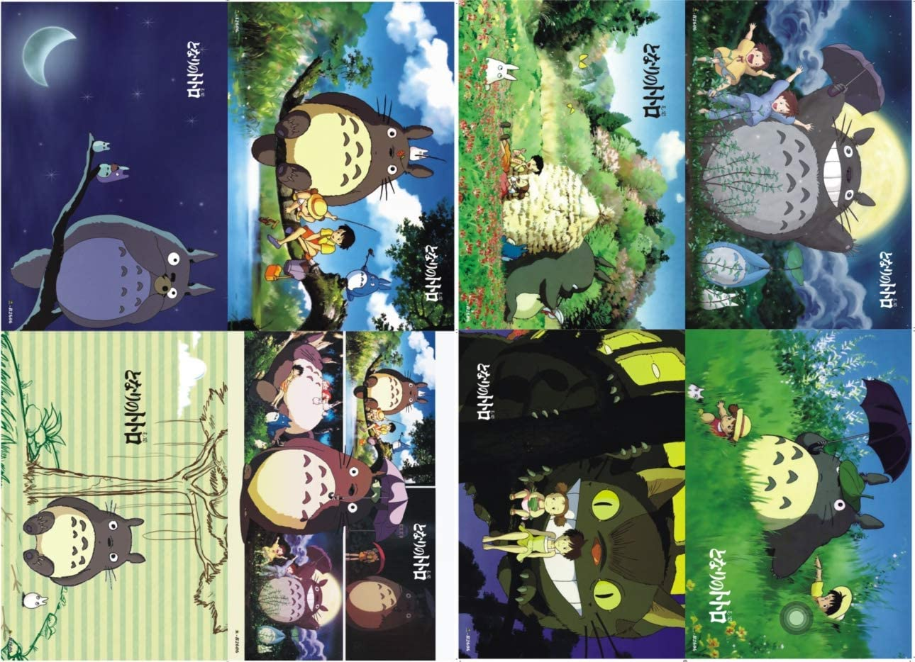 ePanda My Neighbor Totoro Tonari no Totoro Poster Wall Decor Art Print,Set of 8 pcs,11.5x16.5 inches