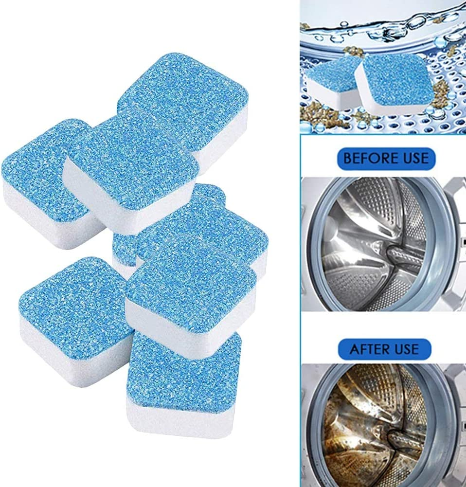 GUCHIS 30 PCS Washing Machine Cleaner,Effervescent Tablet Washer Cleaner Deep Cleaning Remover