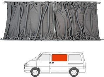 Van Demon Kit de cortinas para furgoneta de caravana con puerta corredera para VW Transporter T4 (90-03), color gris