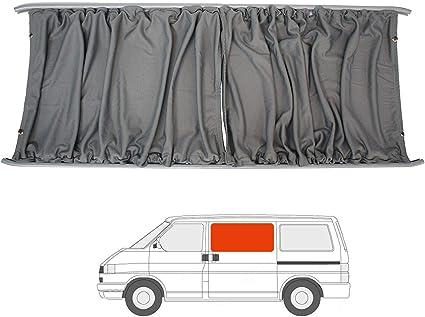 Van Demon Kit de cortinas para furgoneta de caravana con puerta corredera para VW Transporter T4 (90-03), color gris: Amazon.es: Coche y moto