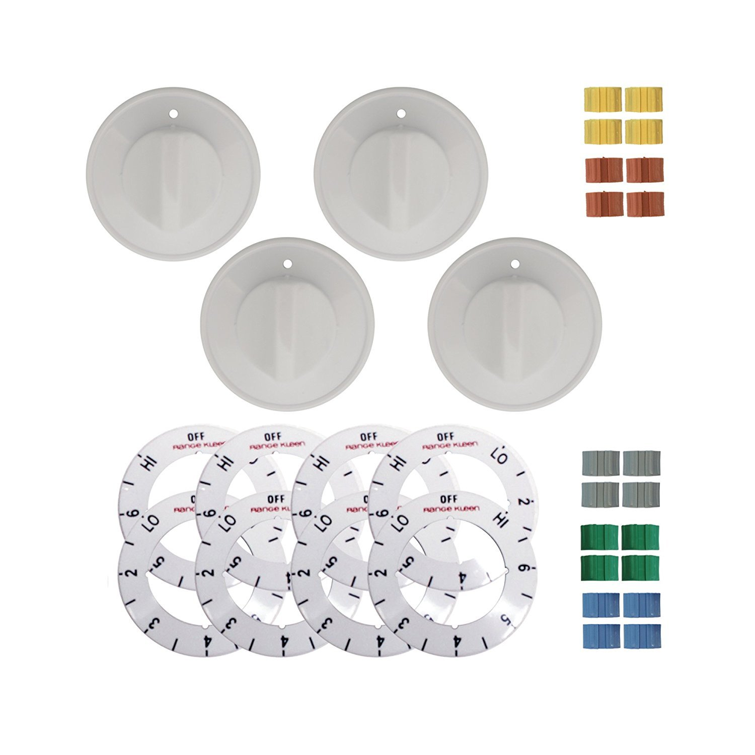 Range Kleen 8134 White Electric Range Knobs, 4 Pcs