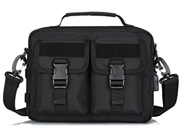 2575ddb7ef Image Unavailable. Image not available for. Color  CamGo Multifunction Tactical  Messenger Bag Mens Waterproof Crossbody Shoulder Briefcase ...