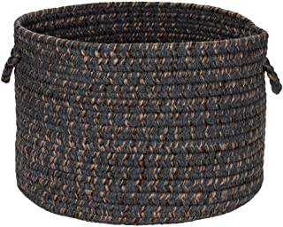 """product image for Colonial Mills Hayward HY29A018X018 Utility Basket, 18"""" x 18"""" x 12"""", Charcoal"""