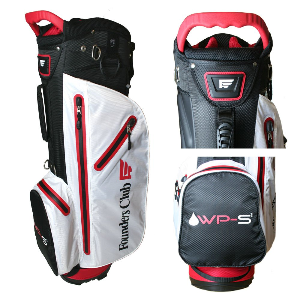 Founders Club Waterproof Golf Stand Carry Bag with 14 Way Top -Light Weight - Red White Black by Founders Club (Image #4)