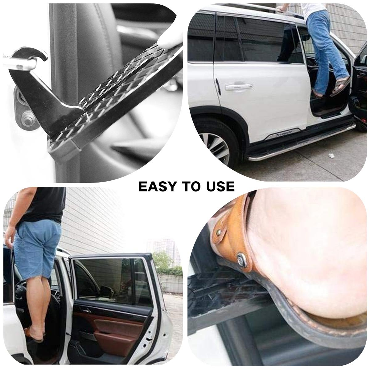 FitMaker Vehicle Hooked, U Shaped Vehicle Rooftop Doorstep with Saftey Hammer Function for Easy Access to Car Rooftop Roof-rack, Doorstep for various vehicles by FitMaker (Image #2)