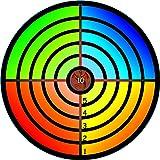 BestSaller 1207 Zielscheibe Classic mit Drache Ø 32cm aus Holz, regenbogenfarben, bunt (1 Stück)