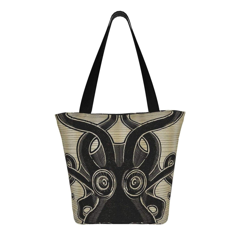Peru flagga kvinnors stor storlek kanvas axelväska Hobo crossbody handväska ledig bärkasse Octopus1