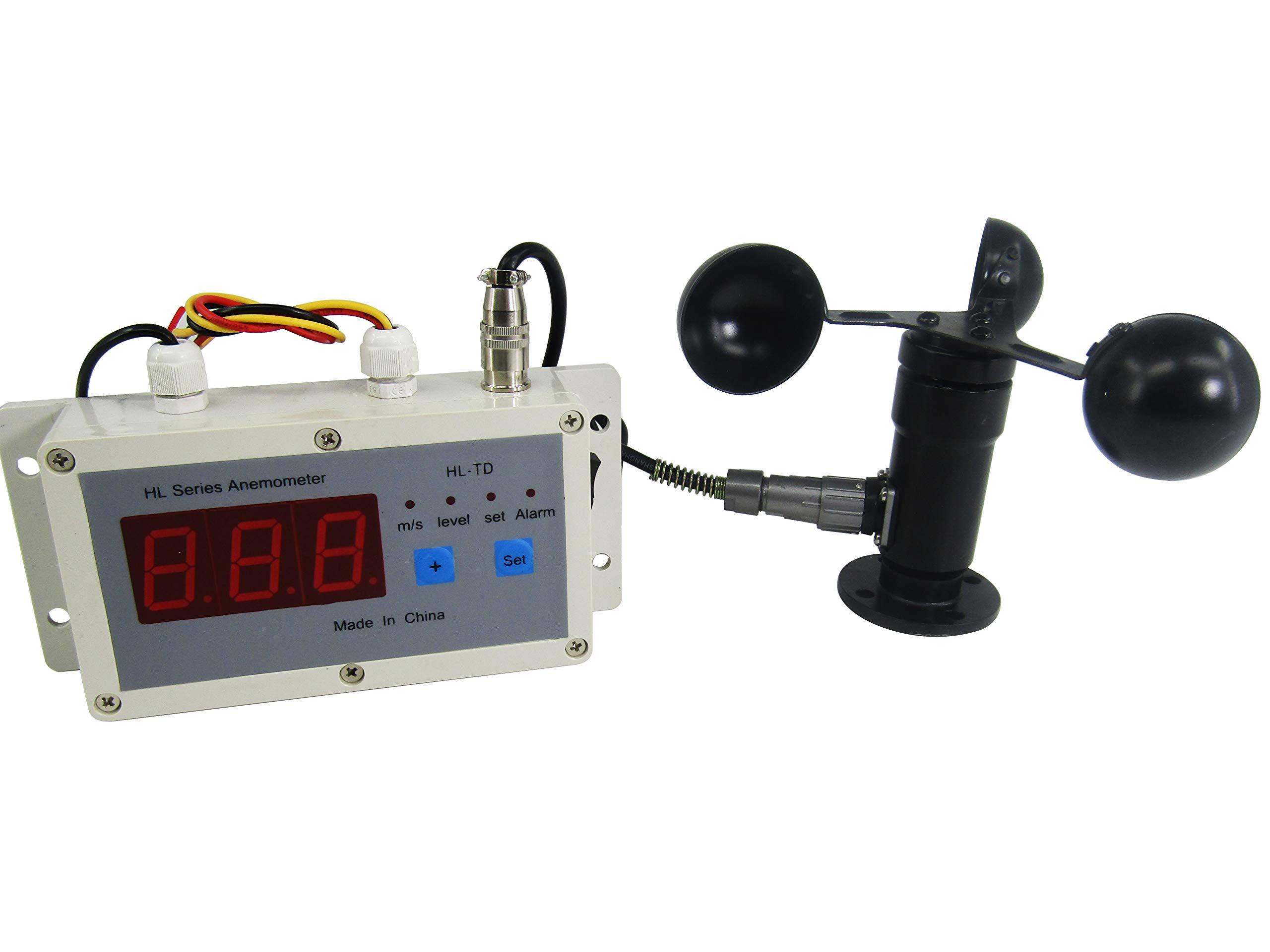 KUNHEWUHUA Wind Speed Alarm Device Anemometer Wind Speed Measurement & Control Instrument Gantry Crane Dedicated Anemometer Digital Display 110V by KUNHEWUHUA (Image #2)