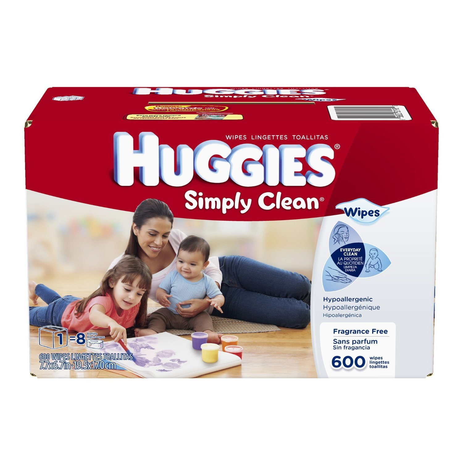 Huggies Simply Clean Fragrance Free Baby Wipes Refill (1200 Count)