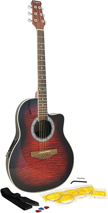 Martin Smith R202-RD - Guitarra electroacústica, color rojo ...