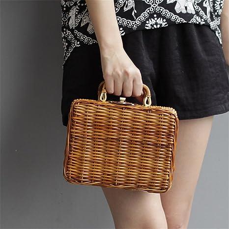 406f73f42c1d Amazon.com: Fashion Outdoor Summer Straw Weave Women's Handbags ...