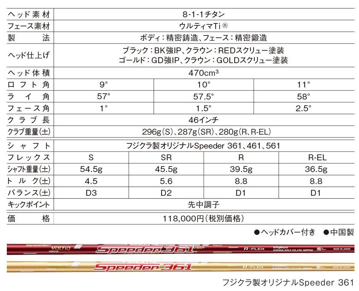 Amazon.com: Katana Japón de golf Voltio Ninja 880hi Oro ...