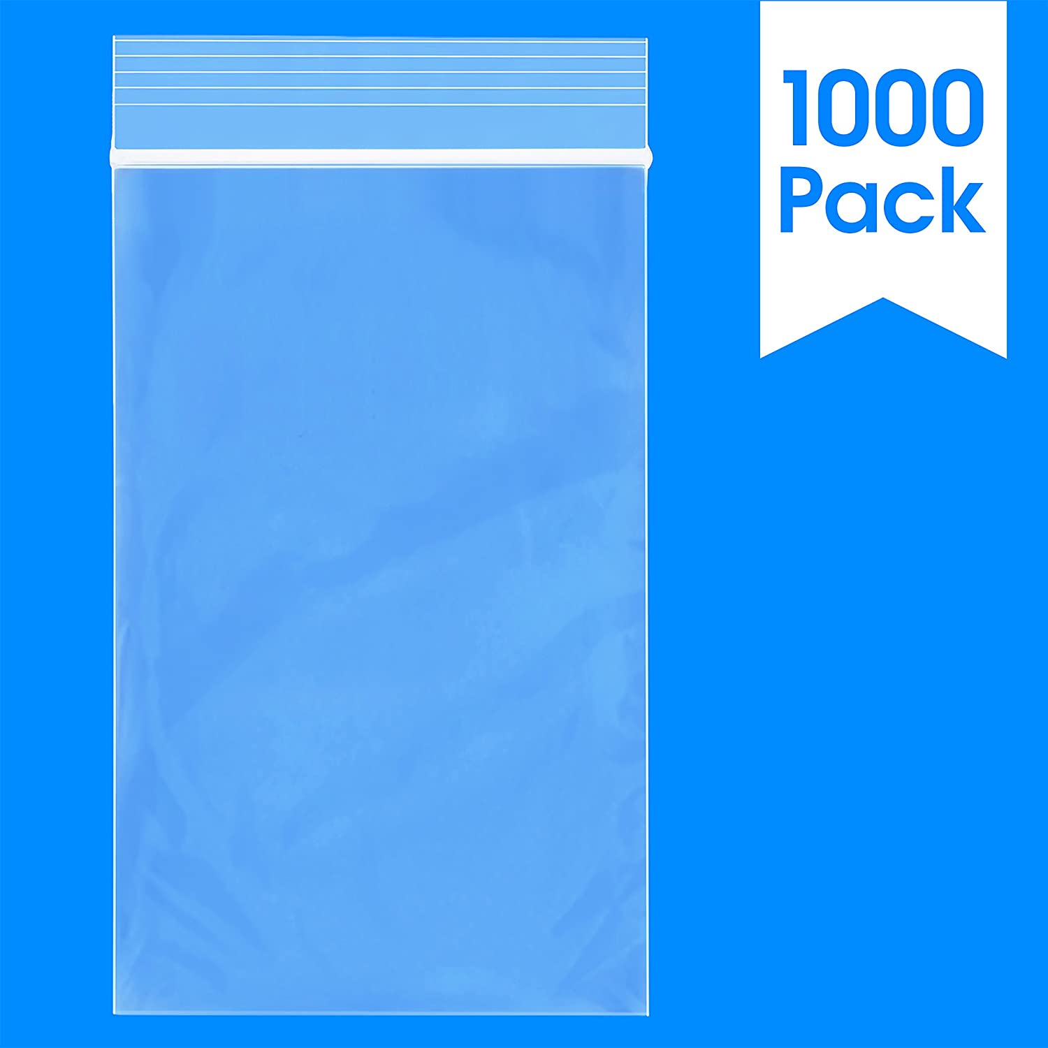 "Spartan Industrial || 1000 Count - 3"" X 5"" - 2 Mil Clear Plastic Reclosable Zip Poly Bags with Resealable Lock Seal Zipper (More Sizes Available)"