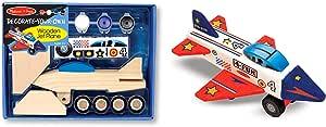 Melissa & Doug Decorate-Your-Own Wooden Jet Plane