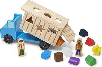 Melissa & Doug Shape-Sorting Dump Truck Toy
