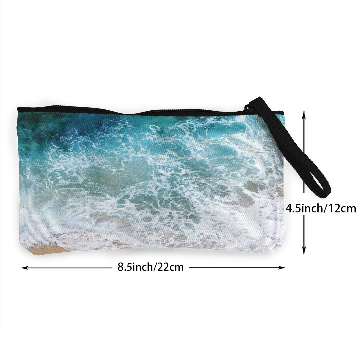 ff98238a81ce Amazon.com: XUJ YOGA Women Girls Change Purse Blue Sea Waves Printed ...
