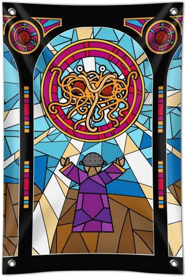 GRAPHICS & MORE Flying Spaghetti Monster Stained Glass Home Business Office Sign