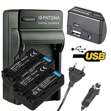 4en1 Cargador PATONA + 2x Bateria para SONY NP-FM50 SONY NP ...
